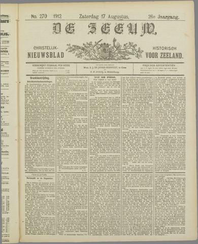 De Zeeuw. Christelijk-historisch nieuwsblad voor Zeeland 1912-08-17