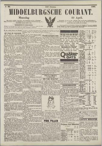 Middelburgsche Courant 1901-04-22