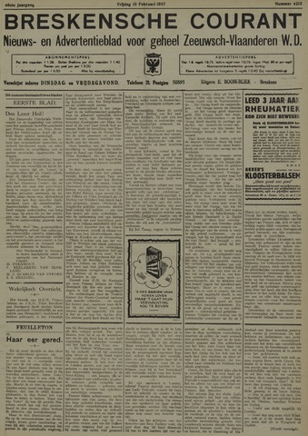 Breskensche Courant 1937-02-19