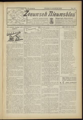 Zeeuwsch Nieuwsblad/Wegeling's Nieuwsblad 1935-08-09