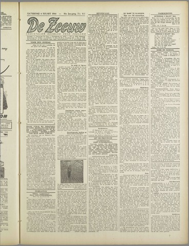 De Zeeuw. Christelijk-historisch nieuwsblad voor Zeeland 1944-03-04