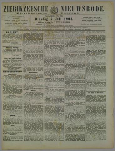 Zierikzeesche Nieuwsbode 1903-07-07