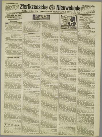Zierikzeesche Nieuwsbode 1924-12-05