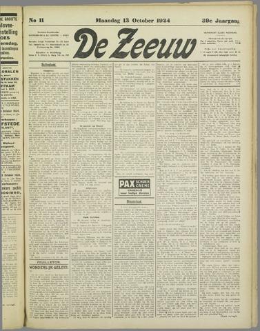 De Zeeuw. Christelijk-historisch nieuwsblad voor Zeeland 1924-10-13