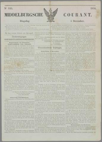 Middelburgsche Courant 1854-12-05