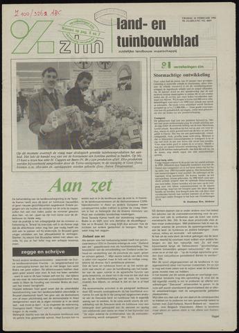 Zeeuwsch landbouwblad ... ZLM land- en tuinbouwblad 1990-02-16