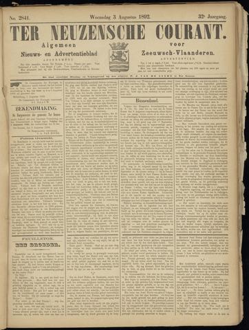 Ter Neuzensche Courant. Algemeen Nieuws- en Advertentieblad voor Zeeuwsch-Vlaanderen / Neuzensche Courant ... (idem) / (Algemeen) nieuws en advertentieblad voor Zeeuwsch-Vlaanderen 1892-08-03