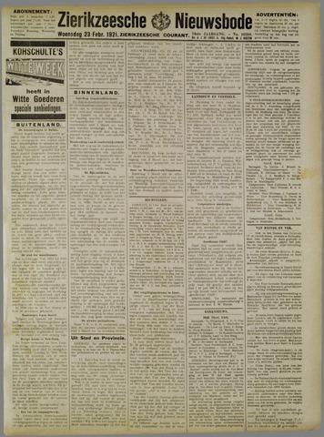 Zierikzeesche Nieuwsbode 1921-02-23