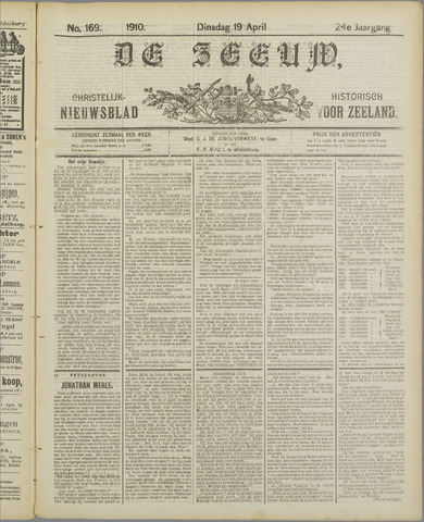 De Zeeuw. Christelijk-historisch nieuwsblad voor Zeeland 1910-04-19