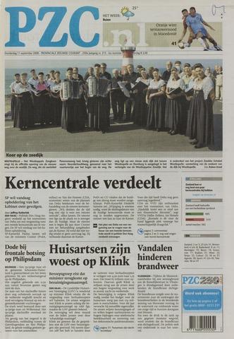 Provinciale Zeeuwse Courant 2008-09-11