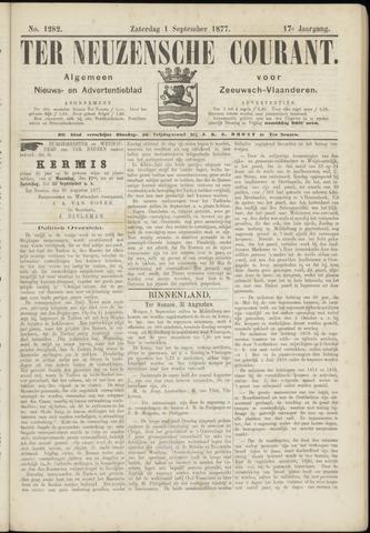 Ter Neuzensche Courant. Algemeen Nieuws- en Advertentieblad voor Zeeuwsch-Vlaanderen / Neuzensche Courant ... (idem) / (Algemeen) nieuws en advertentieblad voor Zeeuwsch-Vlaanderen 1877-09-01