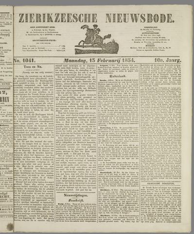 Zierikzeesche Nieuwsbode 1854-02-13