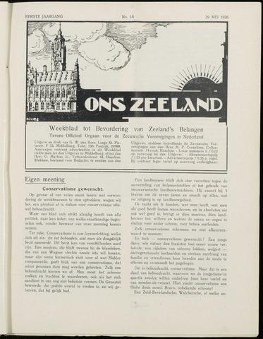 Ons Zeeland / Zeeuwsche editie 1926-05-29