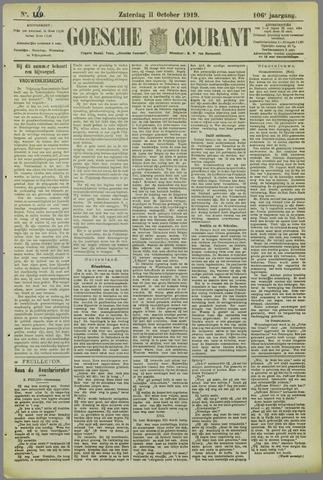 Goessche Courant 1919-10-11