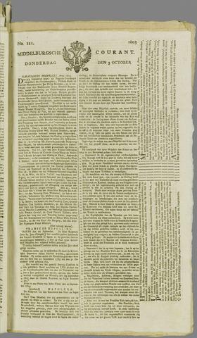 Middelburgsche Courant 1805-10-03