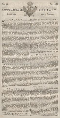 Middelburgsche Courant 1768-08-04