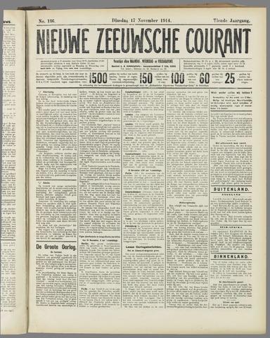 Nieuwe Zeeuwsche Courant 1914-11-17