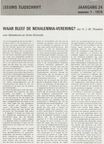 Zeeuws Tijdschrift 1974-01-01