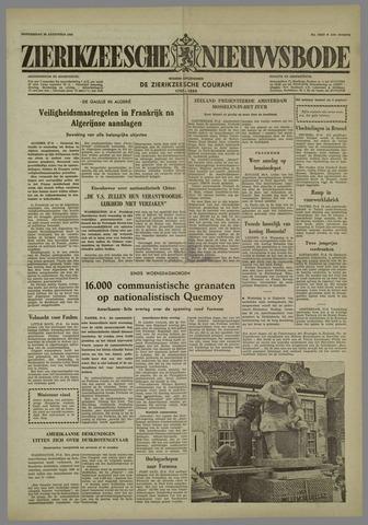 Zierikzeesche Nieuwsbode 1958-08-28