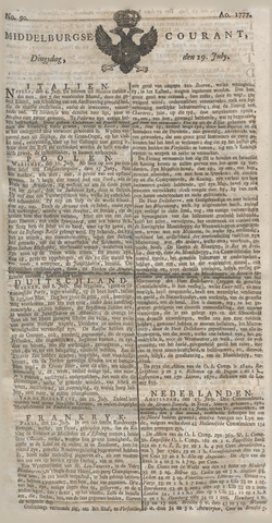 Middelburgsche Courant 1777-07-29