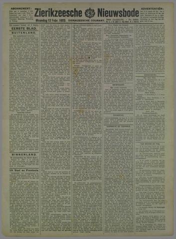 Zierikzeesche Nieuwsbode 1923-02-12