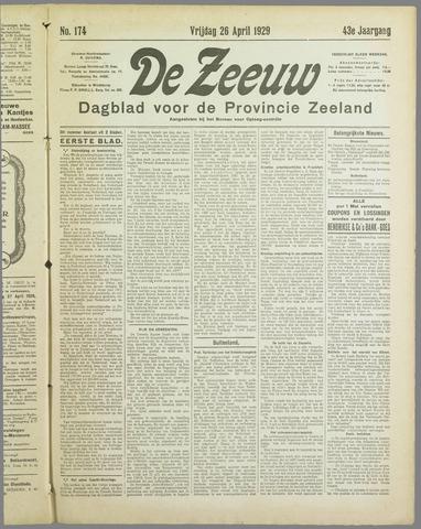 De Zeeuw. Christelijk-historisch nieuwsblad voor Zeeland 1929-04-26