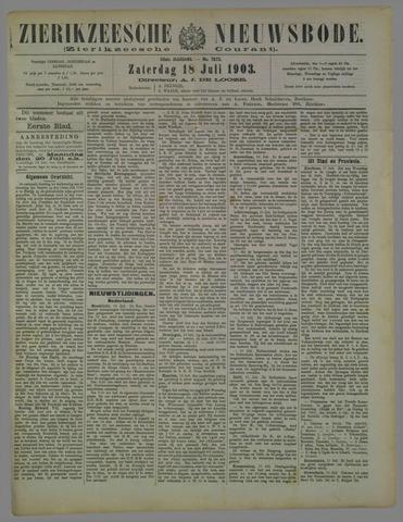 Zierikzeesche Nieuwsbode 1903-07-18