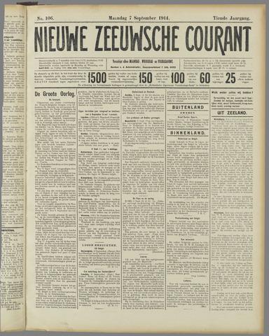 Nieuwe Zeeuwsche Courant 1914-09-07