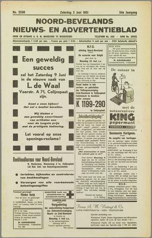 Noord-Bevelands Nieuws- en advertentieblad 1951-06-02