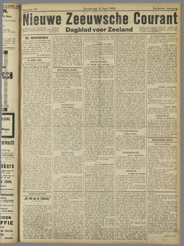 Nieuwe Zeeuwsche Courant 1920-04-15
