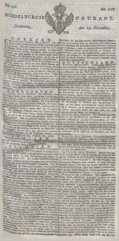 Middelburgsche Courant 1778-11-19