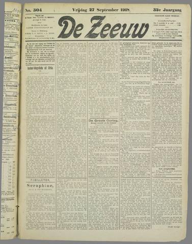 De Zeeuw. Christelijk-historisch nieuwsblad voor Zeeland 1918-09-27