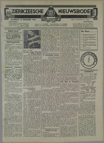 Zierikzeesche Nieuwsbode 1936-12-12
