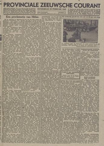 Provinciale Zeeuwse Courant 1943-02-25
