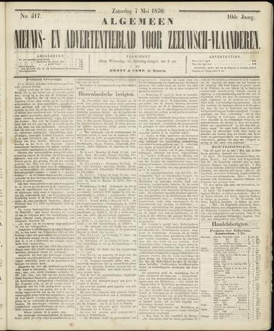 Ter Neuzensche Courant. Algemeen Nieuws- en Advertentieblad voor Zeeuwsch-Vlaanderen / Neuzensche Courant ... (idem) / (Algemeen) nieuws en advertentieblad voor Zeeuwsch-Vlaanderen 1870-05-07