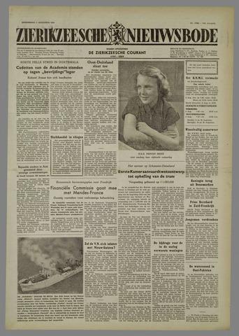 Zierikzeesche Nieuwsbode 1954-08-05