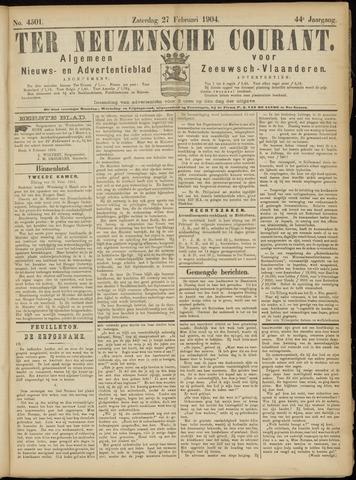 Ter Neuzensche Courant. Algemeen Nieuws- en Advertentieblad voor Zeeuwsch-Vlaanderen / Neuzensche Courant ... (idem) / (Algemeen) nieuws en advertentieblad voor Zeeuwsch-Vlaanderen 1904-02-27