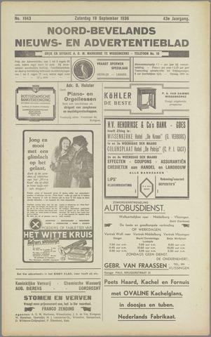 Noord-Bevelands Nieuws- en advertentieblad 1936-09-19