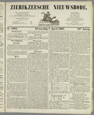 Zierikzeesche Nieuwsbode 1863-04-01