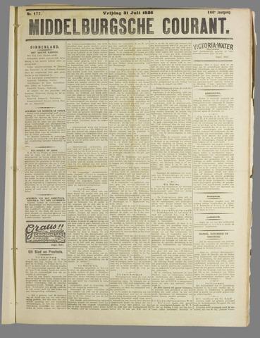 Middelburgsche Courant 1925-07-31