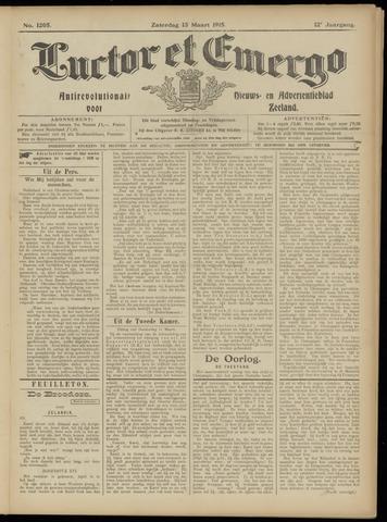 Luctor et Emergo. Antirevolutionair nieuws- en advertentieblad voor Zeeland / Zeeuwsch-Vlaanderen. Orgaan ter verspreiding van de christelijke beginselen in Zeeuwsch-Vlaanderen 1915-03-13