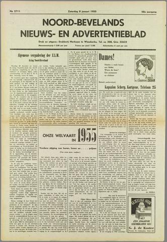 Noord-Bevelands Nieuws- en advertentieblad 1955-01-08