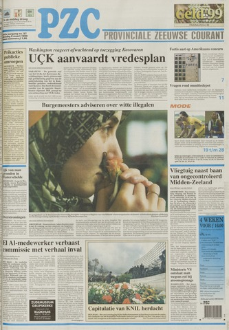 Provinciale Zeeuwse Courant 1999-03-09