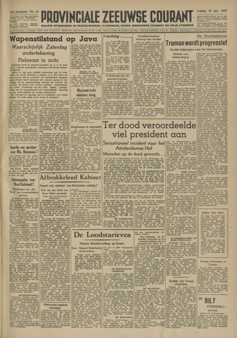 Provinciale Zeeuwse Courant 1948-01-16