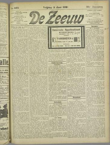 De Zeeuw. Christelijk-historisch nieuwsblad voor Zeeland 1921-06-03