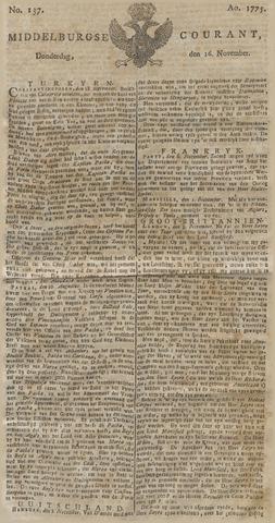 Middelburgsche Courant 1775-11-16
