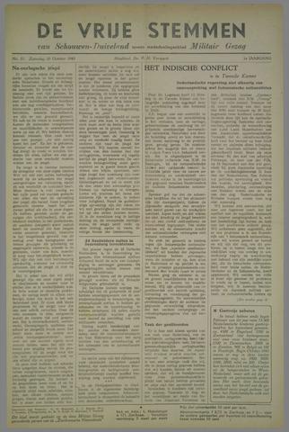Vrije Stemmen van Schouwen-Duiveland, tevens mededeelingenblad Militair Gezag 1945-10-20