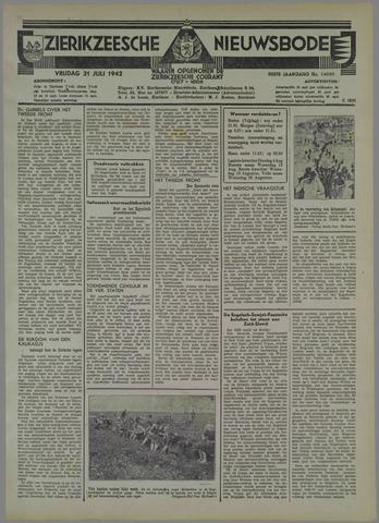 Zierikzeesche Nieuwsbode 1942-07-31