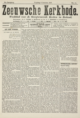 Zeeuwsche kerkbode, weekblad gewijd aan de belangen der gereformeerde kerken/ Zeeuwsch kerkblad 1916-10-06