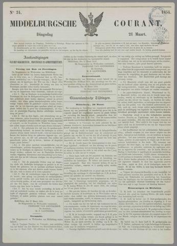 Middelburgsche Courant 1854-03-21